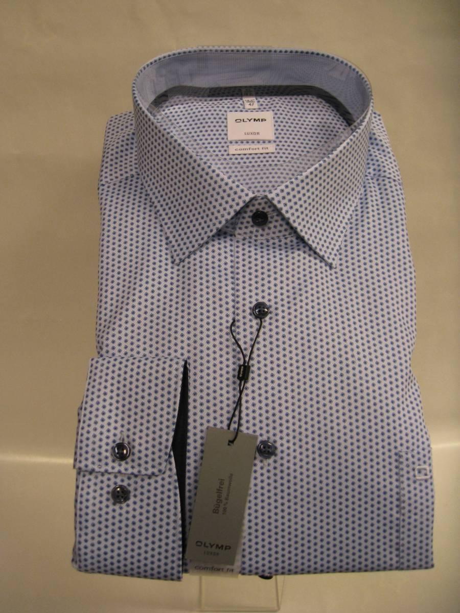 Olymp skjorte blå- Comfort fit