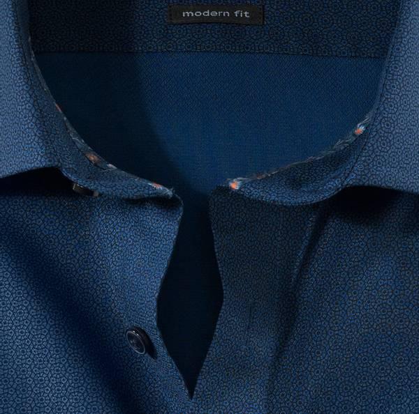 Bilde av Olymp skjorte mønstret blå - Modern fit