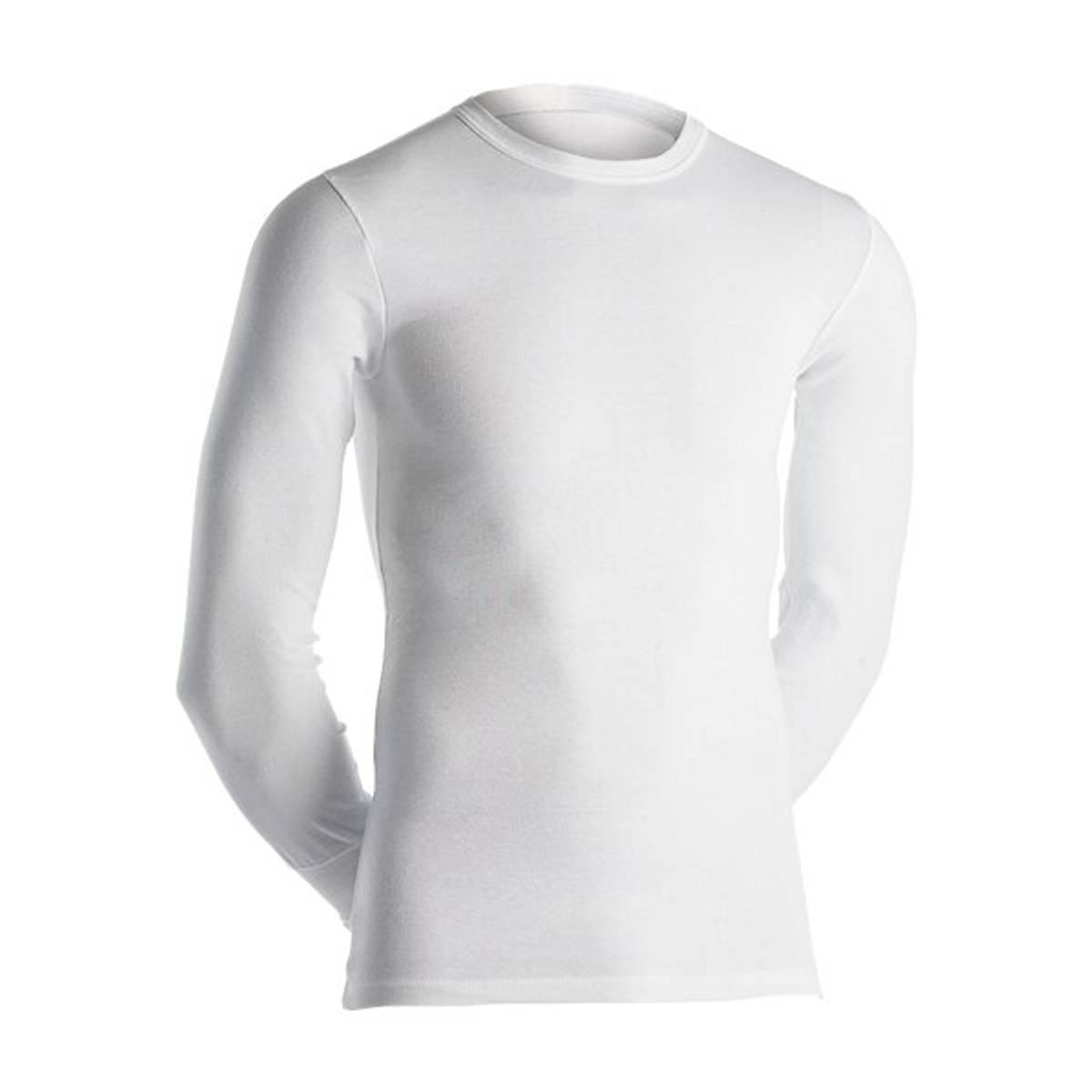 Dovre hvit t-skjorte m/lang erm