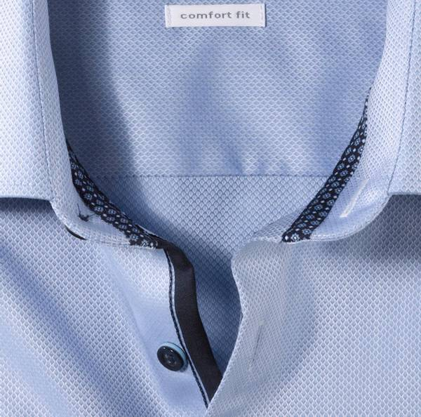 Bilde av Olymp skjorte blå kort erm - Comfort fit