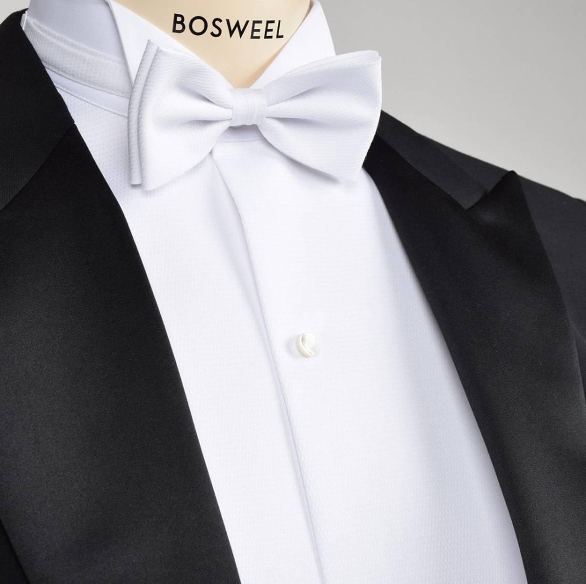 Livkjole sløyfe hvit XL-lang, Bosweel