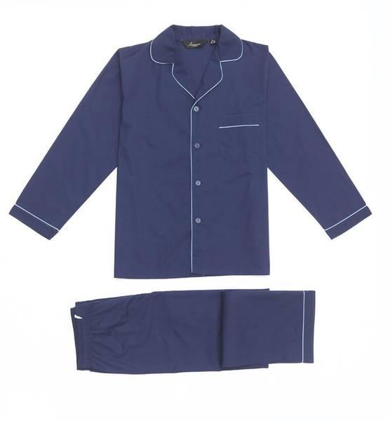 Bilde av pysjamas poplin - Mørk blå