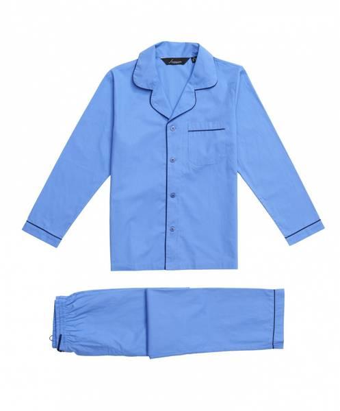 Bilde av pysjamas poplin - Mellom blå