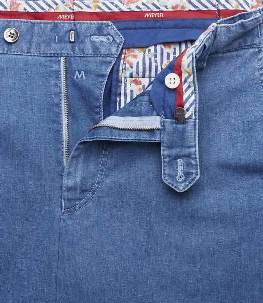 Bilde av Meyer Oslo bomullsbukse - lyse blå