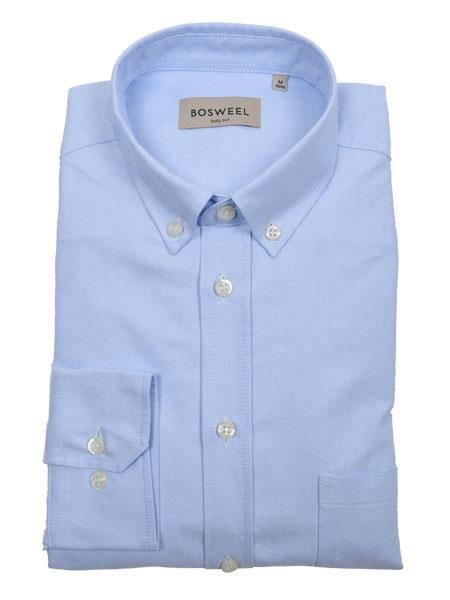 Bilde av Bosweel skjorte lyse blå Oxford - short cut