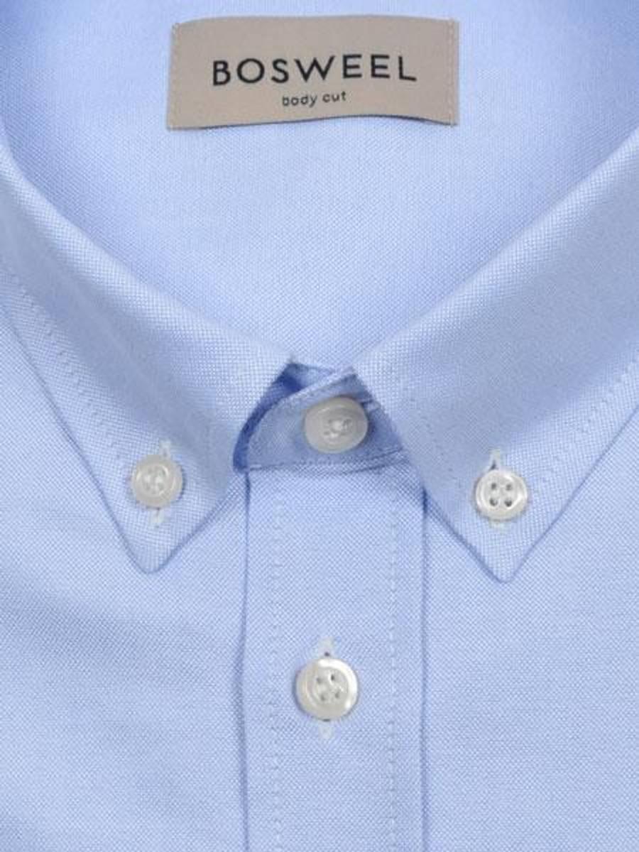 Bosweel skjorte lyse blå Oxford - short cut
