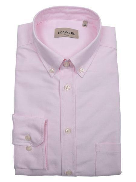 Bilde av Bosweel skjorte rosa Oxford - short cut