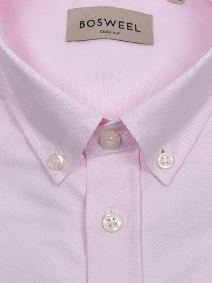 Bosweel skjorte rosa Oxford - short cut