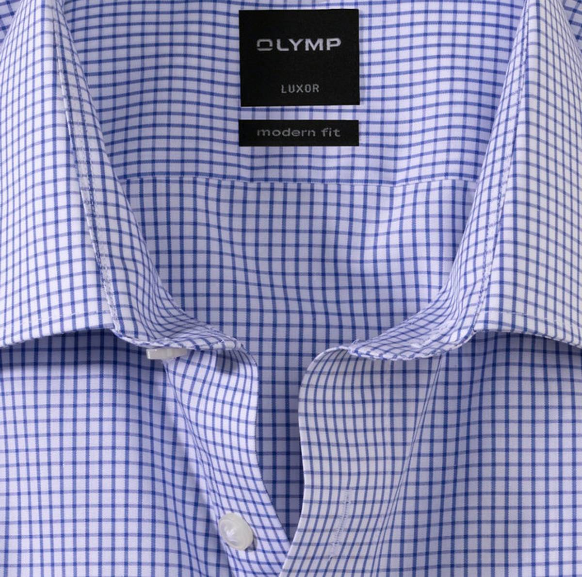 Olymp skjorte blå ruter - Modern fit
