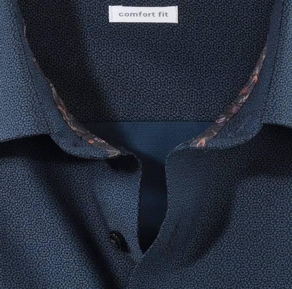Bilde av Olymp skjorte blå mønstret - Comfort fit