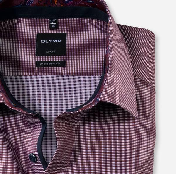 Bilde av Olymp skjorte rød rutet - Modern fit