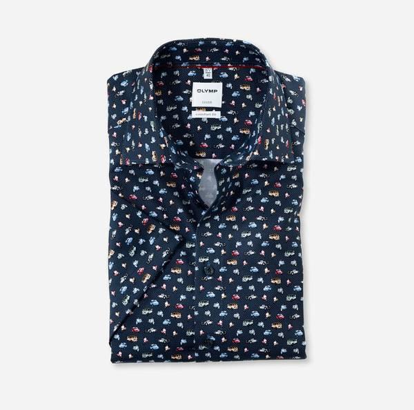Bilde av OLYMP skjorte kort erm blå - Comfort fit
