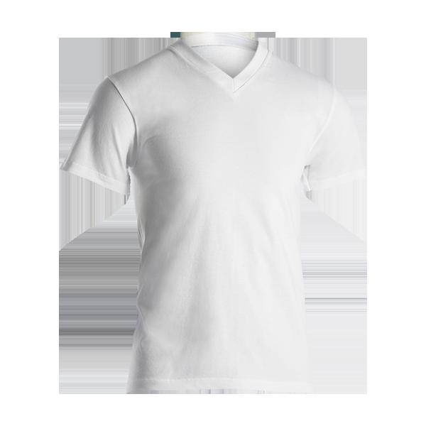 Bilde av Dovre hvit t-shirt, m/V hals