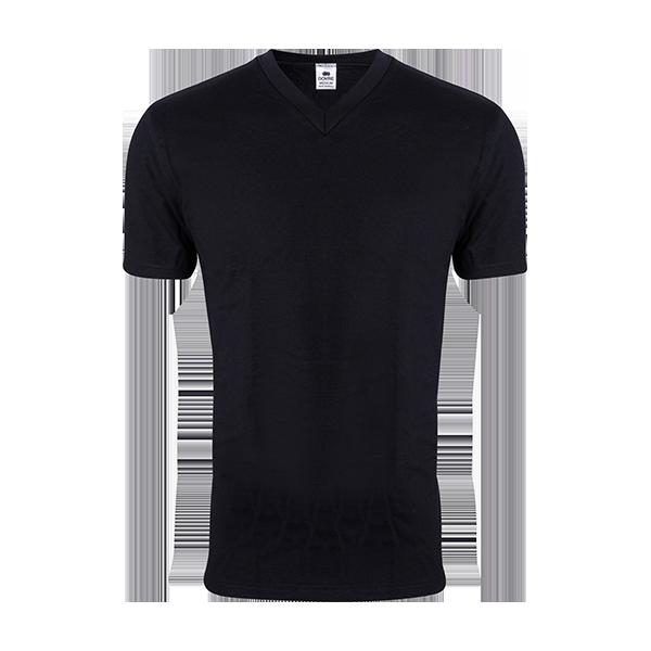 Bilde av Dovre sort t-shirt, m/V hals