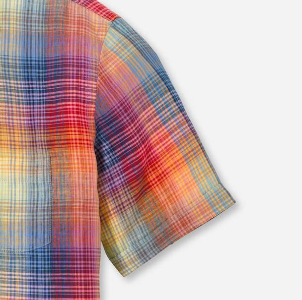 Bilde av Olymp lin skjorte kort erm - Modern fit