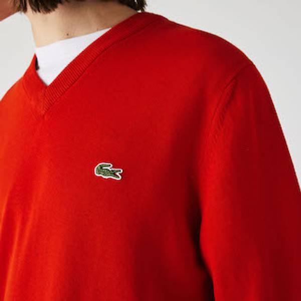 Bilde av Lacoste rød v-neck