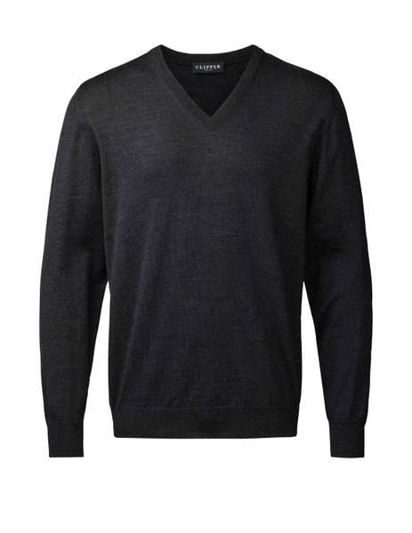 Bilde av Clipper koksgrå V hals genser