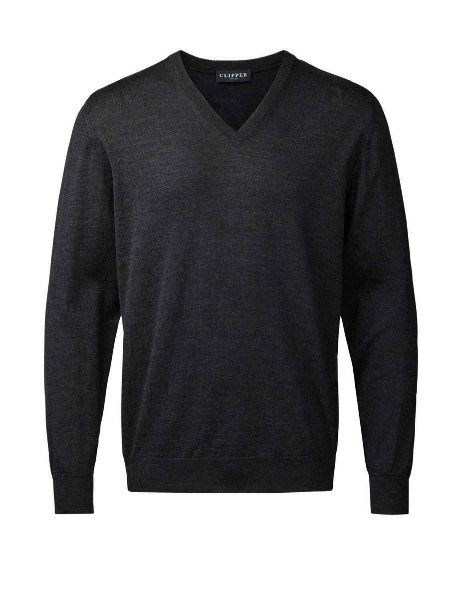 Clipper koksgrå V hals genser