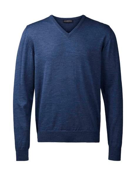 Bilde av Clipper blå V hals genser