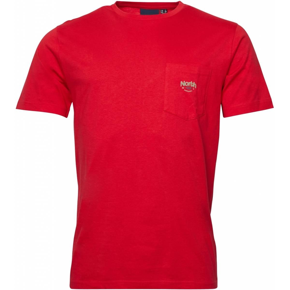 North 56°4 printed T-shirt - Rød