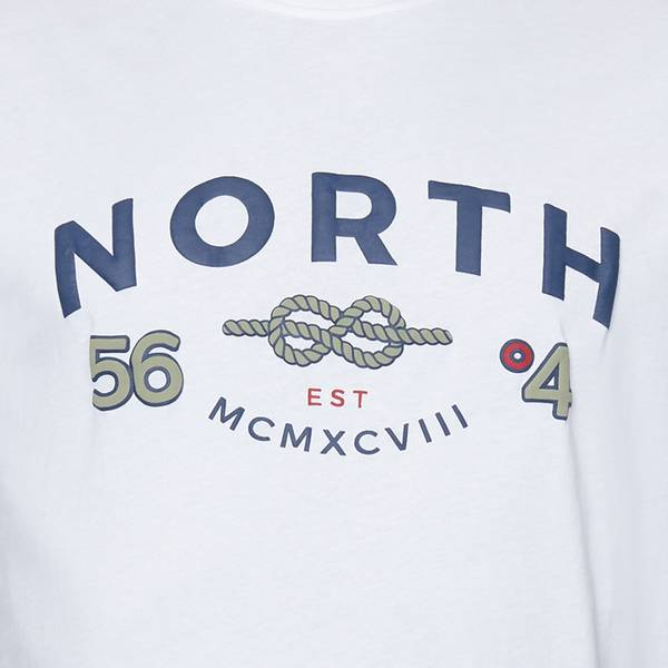 Bilde av North 56°4 printed T-shirt - Hvit