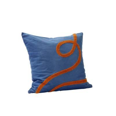 Hübsch pute blå/orange
