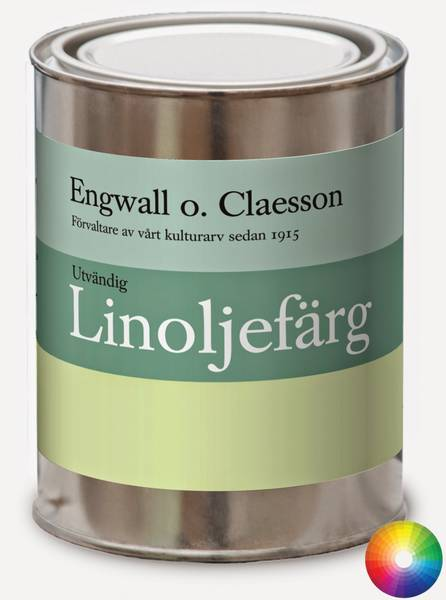 Utvendig brekk linoljemaling Engwall o Claesson