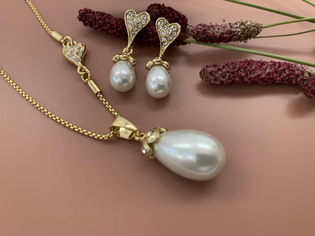 60148 Øredobb oval perle