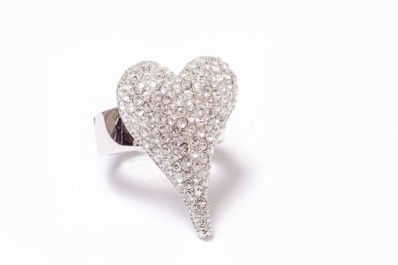 30035 Ring hjerte med stener