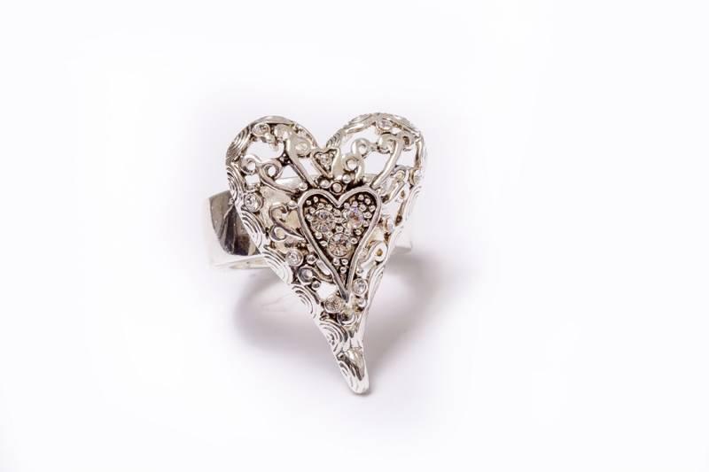 30038 Ring med sislert hjerte