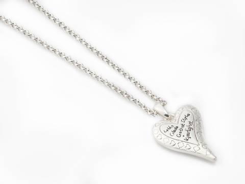 Bilde av 10669 Kort smykke hjerte med gode ord
