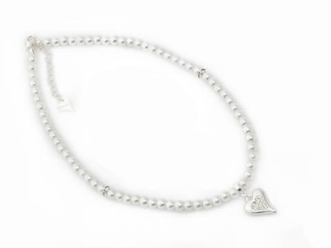 Bilde av 10671 Kort smykke hvite perler