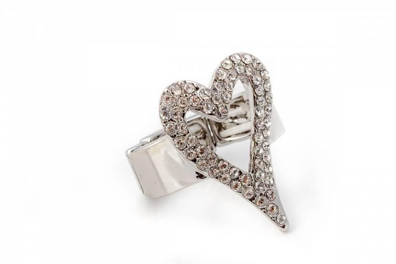 30100 Ring åpent hjerte stener