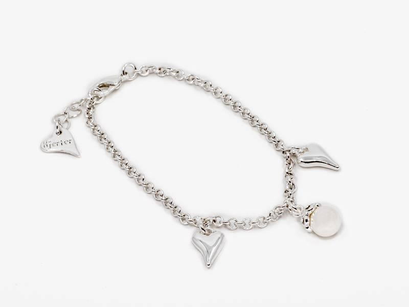20309 Armbånd sølvfarget med  perle
