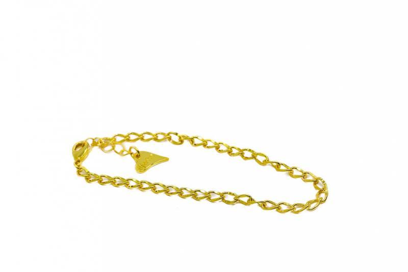 20324 Armbånd gullfarget til clips