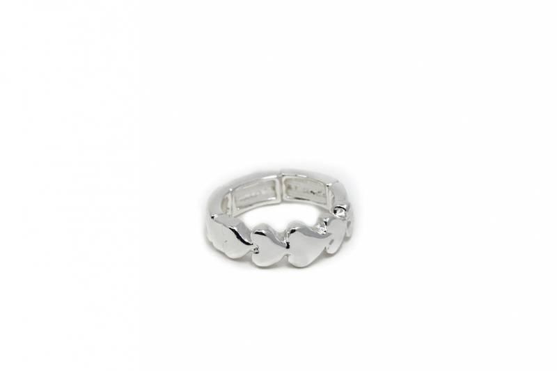 30111 Ring små hjerter sølvfarget