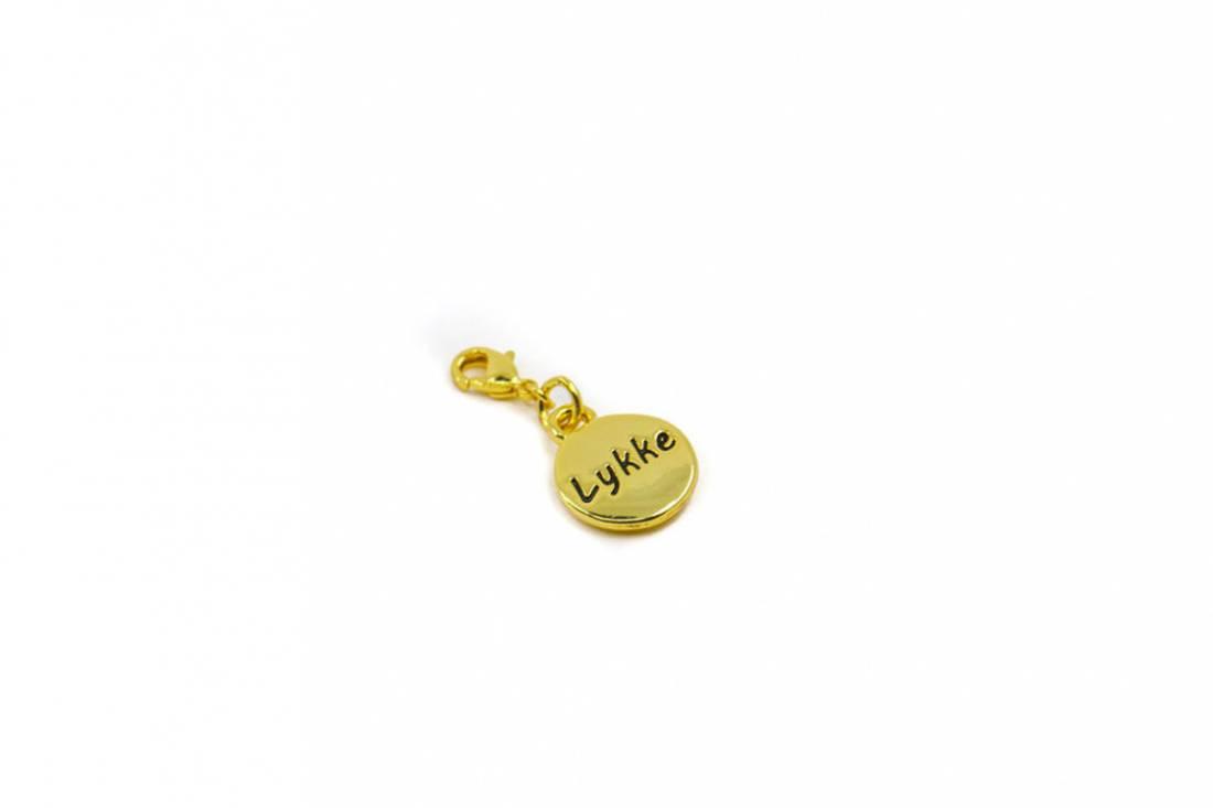 40079 Clips sirkel med hjerte lykke gullfarget
