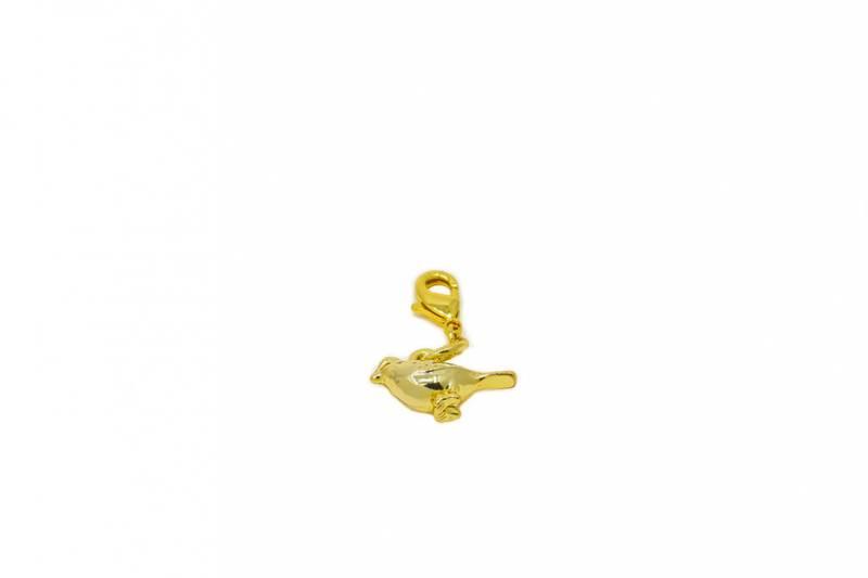 40081 Clips fugl gullfarget