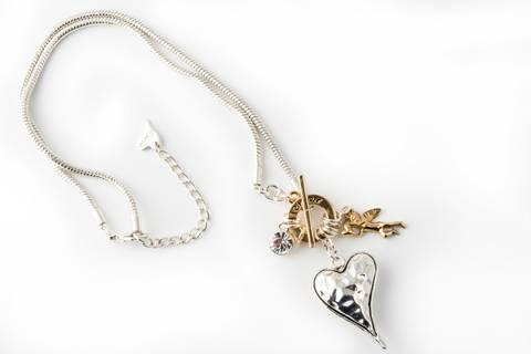 Bilde av 10498 kort smykke hjerte og engel