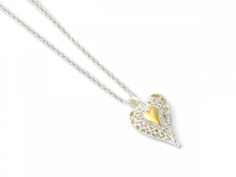 10691 Kort smykke hjerte mønster gull hjerte