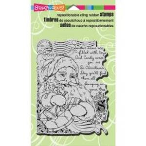 Bilde av Stampendous - Cling rubber stamp - Santa Collage