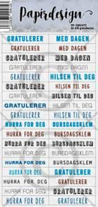 Bilde av Papirdesign Klistremerker - En blå gratulasjon