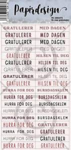 Bilde av Papirdesign Klistremerker - En rosa gratulasjon