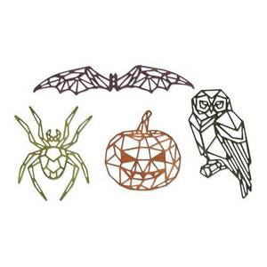 Bilde av Sizzix Thinlits Die Set - Geo Halloween