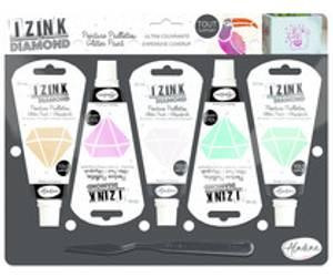 Bilde av Aladine Izink Diamond Glitter Paint Kit Pastels