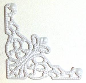 Bilde av Kort & Godt - Metall hjørne hvit 5850