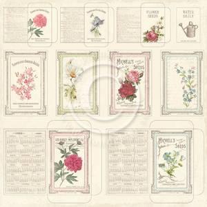 Bilde av Pion Design - Vintage Garden - Seed packets