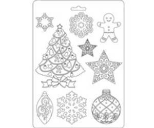 Bilde av Stamperia Soft Mold A5 Christmas