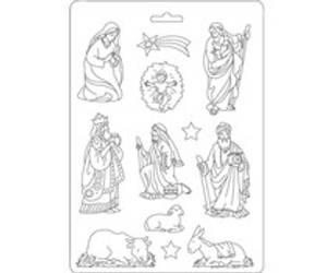 Bilde av Stamperia Soft Mold A5 Nativity