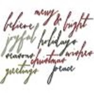 Bilde av Sizzix -Thinlits - Handwritten Holidays
